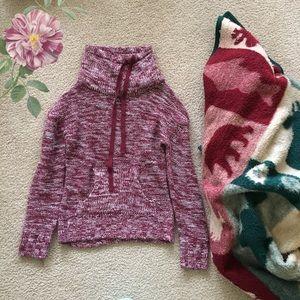 NWOT Slouchy Neck Burgundy Pocket Sweater